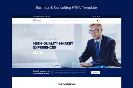 Charles- Бизнес-консалтинг HTML Шаблон