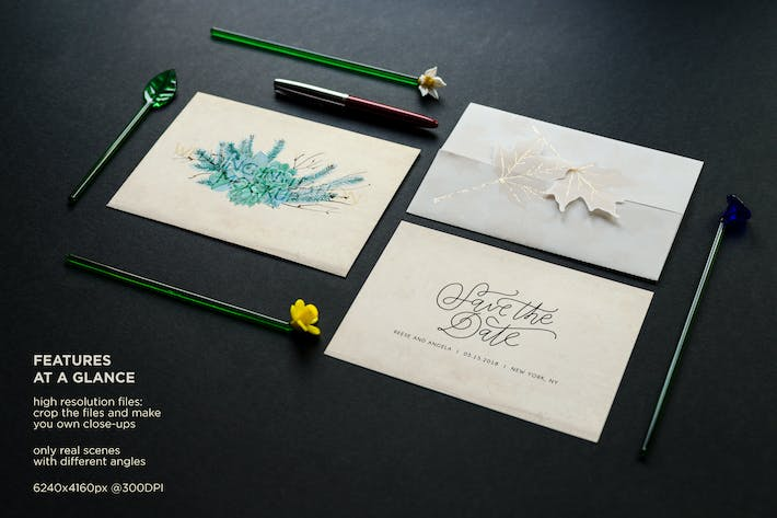 Thumbnail for Vintage Wedding Invitation Mockup