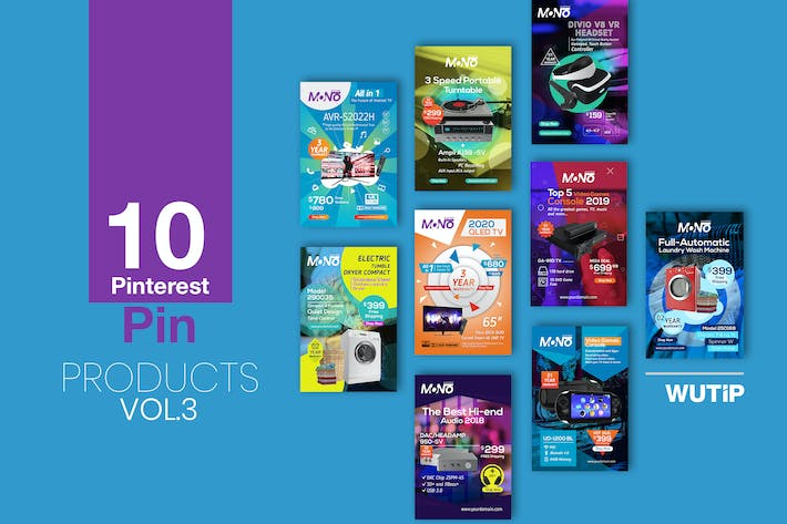 Thumbnail for 10 Pinterest Pin Banner-Products Vol 03