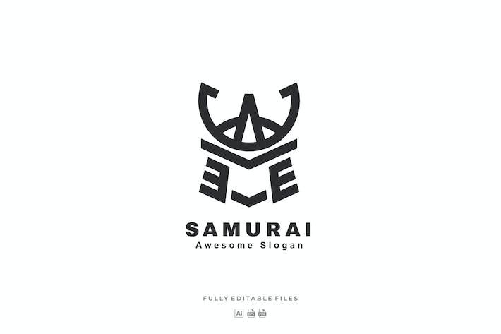Simple Samurai Line Art Logo