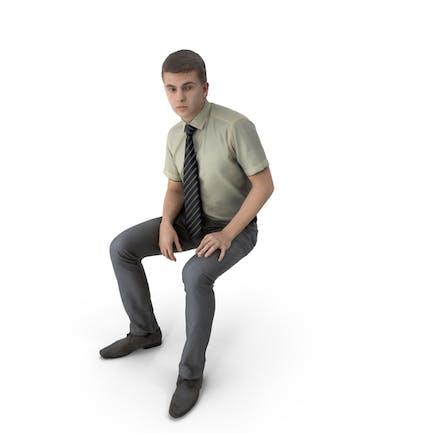 Hombre de negocios sentado