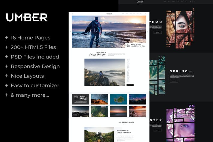 Thumbnail for Umber | Photography HTML5 Template