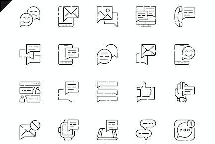 Simple Set Message Line Icons