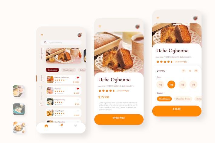 Thumbnail for Uche Bakery Бронирование Мобильный UI - N