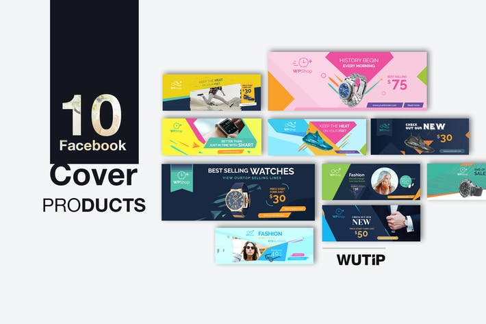Thumbnail for 10 Facebook Cover-Products