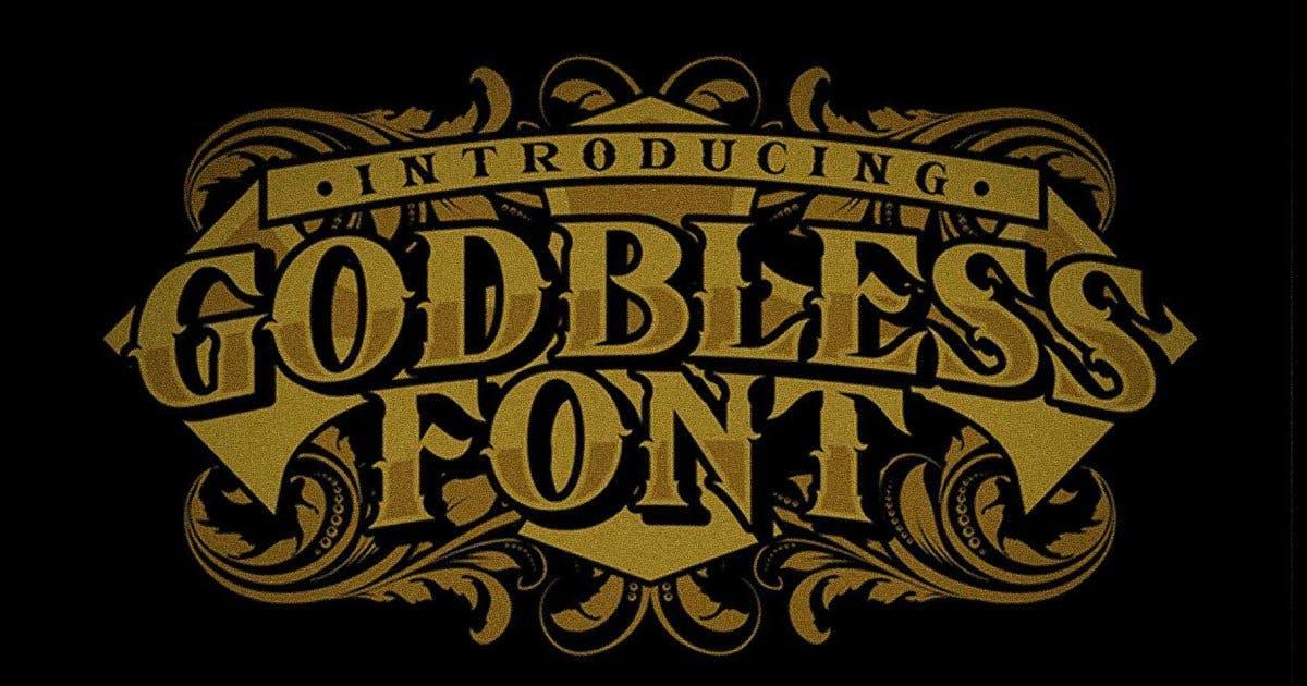 Download Godbless Font by Senzana