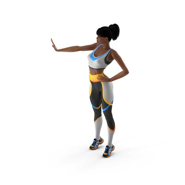 Light Skin Fitness Woman Standing Pose