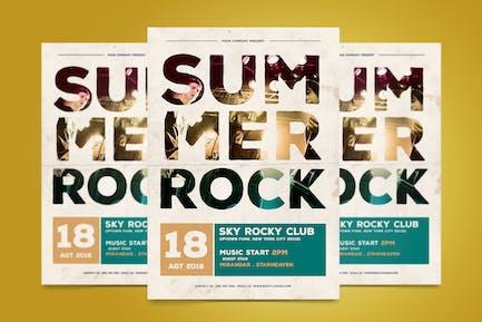 Summer Rock Flyer