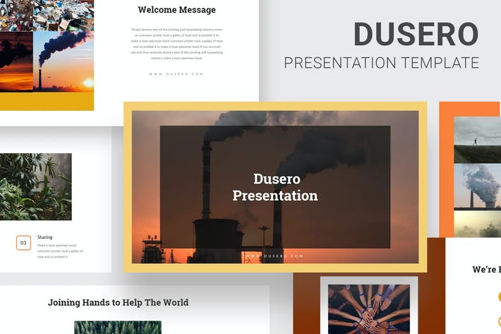 Thumbnail for Dusero - Pollution Awareness Google Slides
