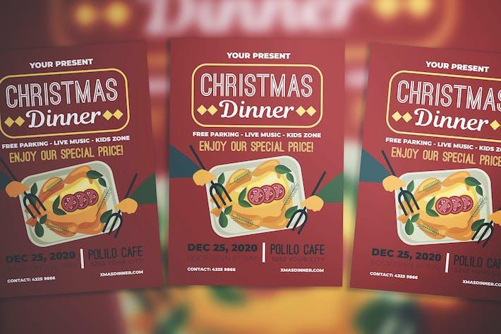Thumbnail for Christmas Dinner Flyer