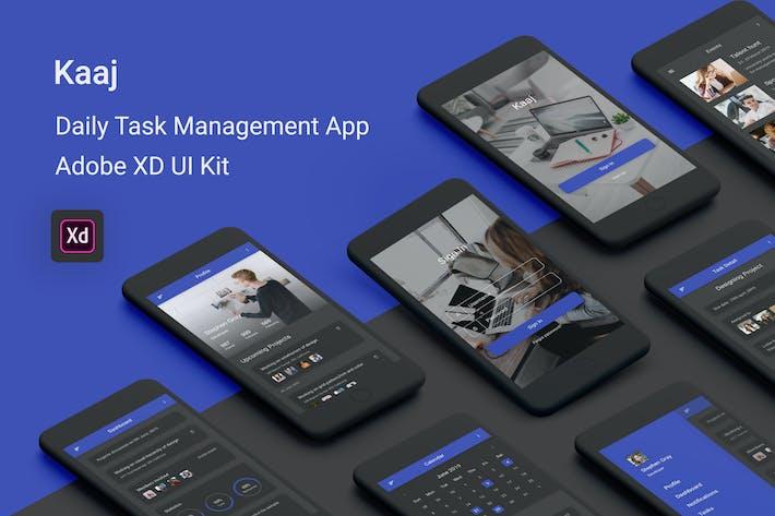 Thumbnail for Kaaj - Daily Task Management Adobe XD UI Kit