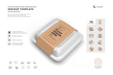 Styrofoam Packaging Mockup Template Set