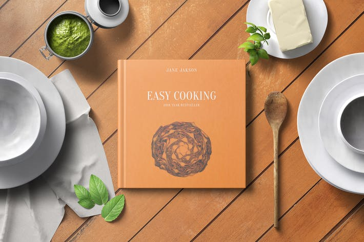 Thumbnail for Square Cook Book Mockup - Kitchen Set