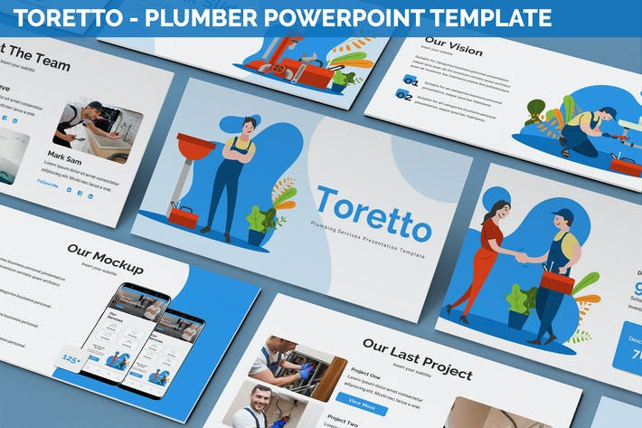 Thumbnail for Toretto - Plumber Powerpoint Template