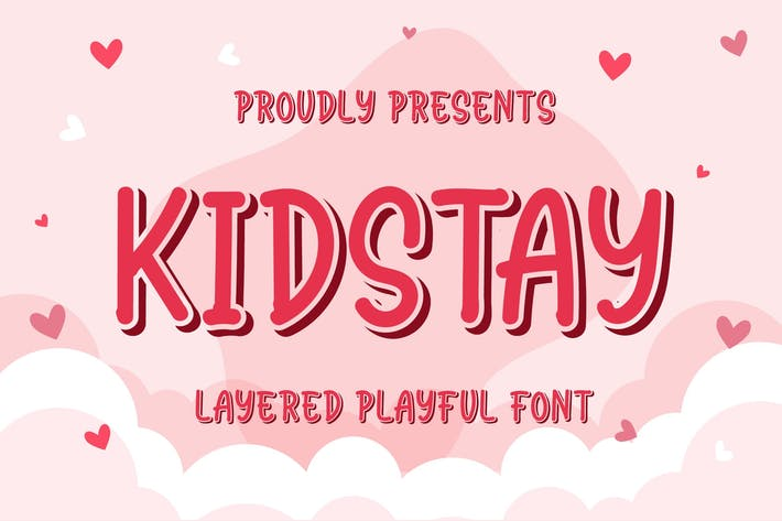 Thumbnail for Kidstay - Layered Playful Font