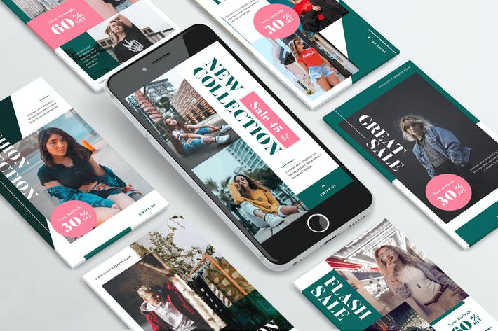 Urban Fashion Instagram Stories PSD & AI Template