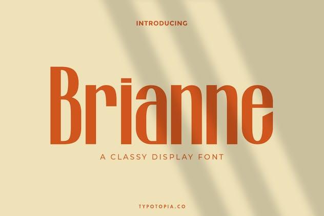 Brianne Fancy Display Font