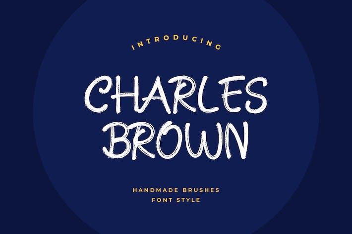Thumbnail for Charles Brown Handmade Brush Font