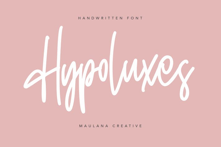 Hypoluxes Pincel de firma manuscrita tipo de letra