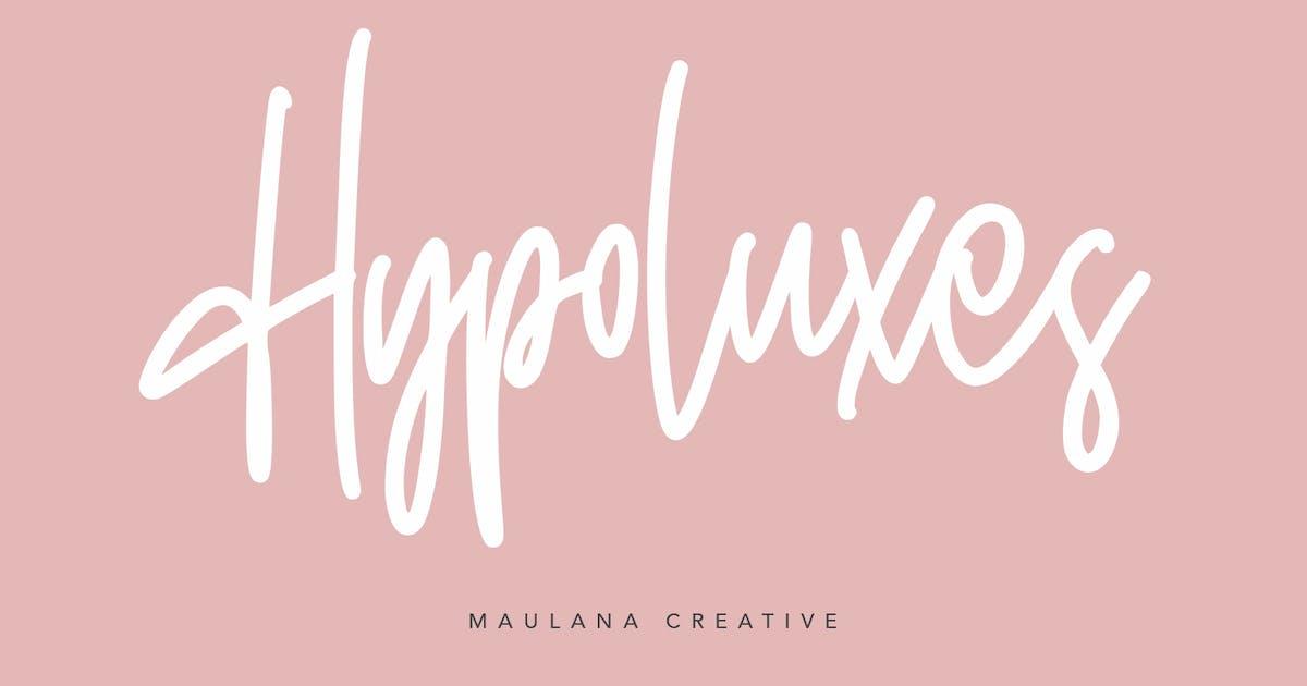 Download Hypoluxes Handwritten Signature Brush Typeface by maulanacreative