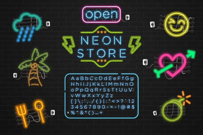 Thumbnail for Neon Store Graphic Type