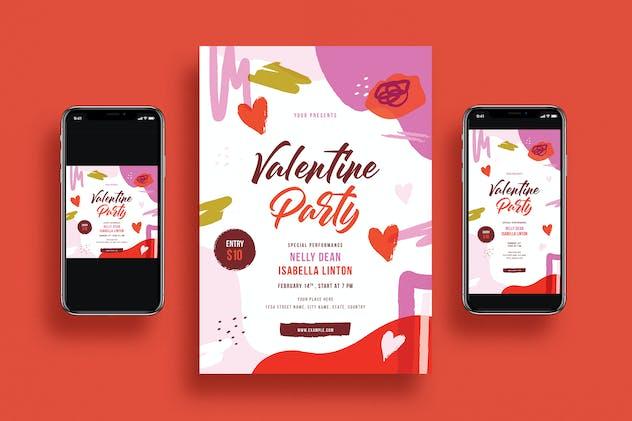 Valentine's Day Party Flyer Set