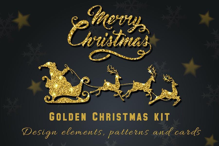 Golden Christmas Kit
