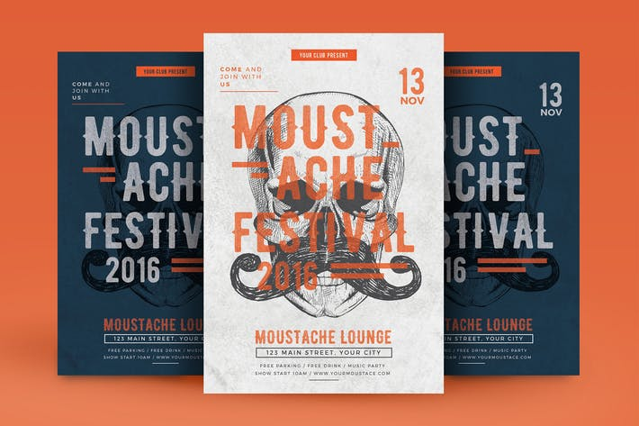 Cover Image For Moustache Party Flyer