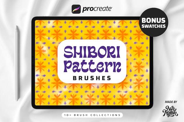 Procreate Shibori Pattern Brushes