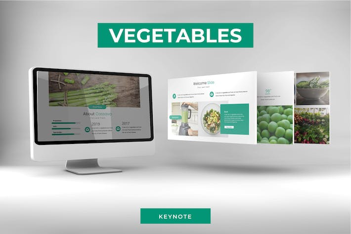 Thumbnail for Vegetables - Keynote Template