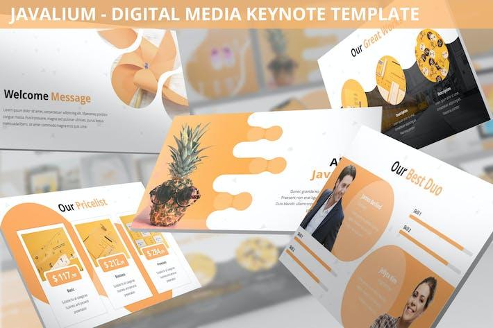 Thumbnail for Javalium - Digital Media Keynote Template