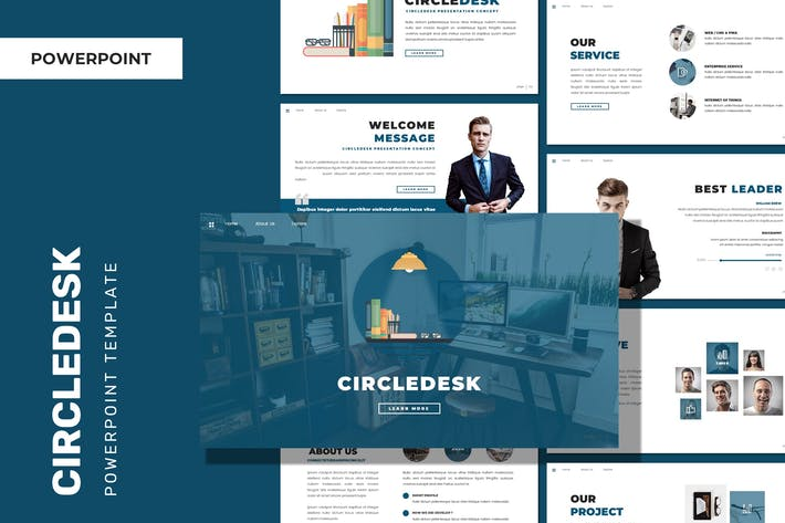 Thumbnail for Circledesk - Business Powerpoint Template