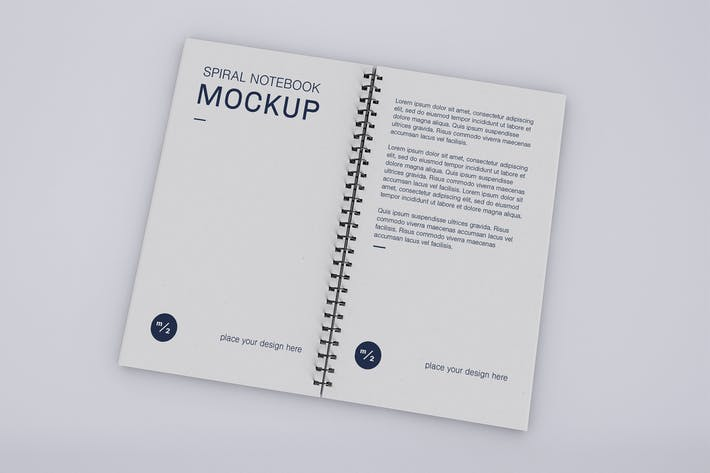 Thumbnail for Open Spiral Notebook Mockup