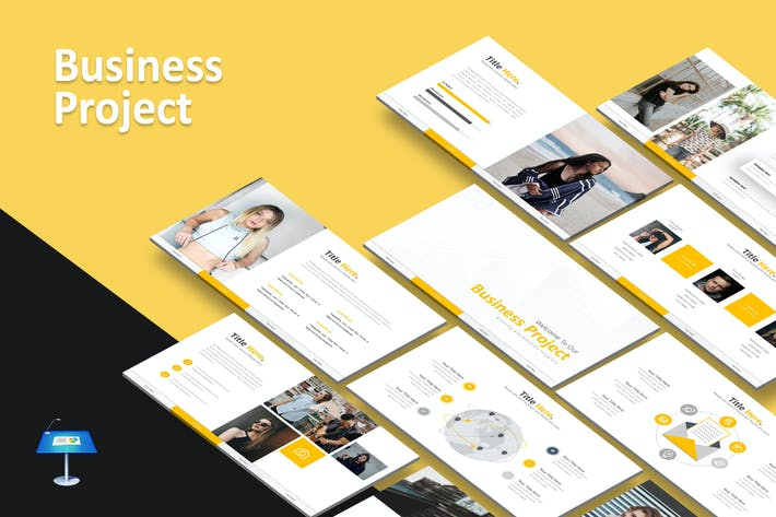 Cover Image For Business Project - Keynote Template
