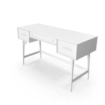 Monochrom-Schreibtisch