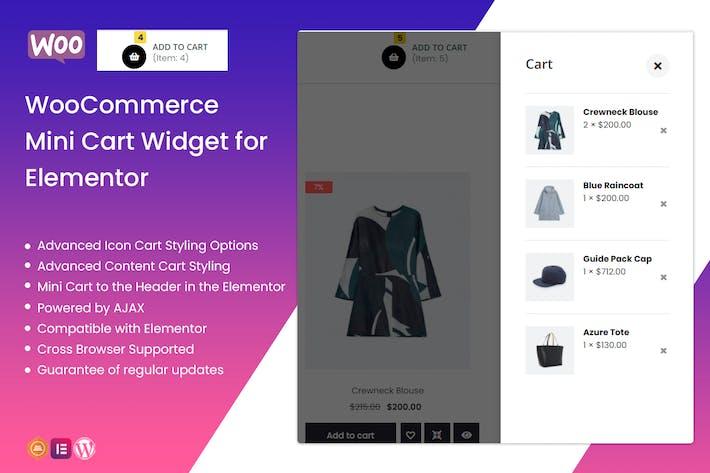 WooCommerce Mini Cart Widget for Elementor