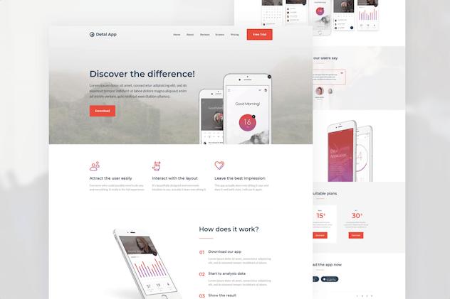 Detalapp - App Unbounce Landing Page Template