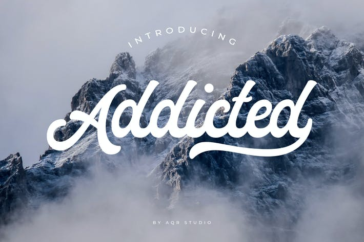 Thumbnail for Addicted Font