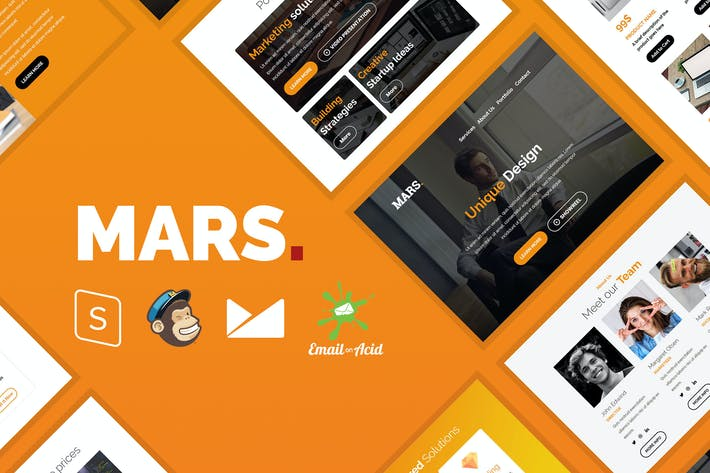 Thumbnail for Mars - Responsive Email Template for Startups
