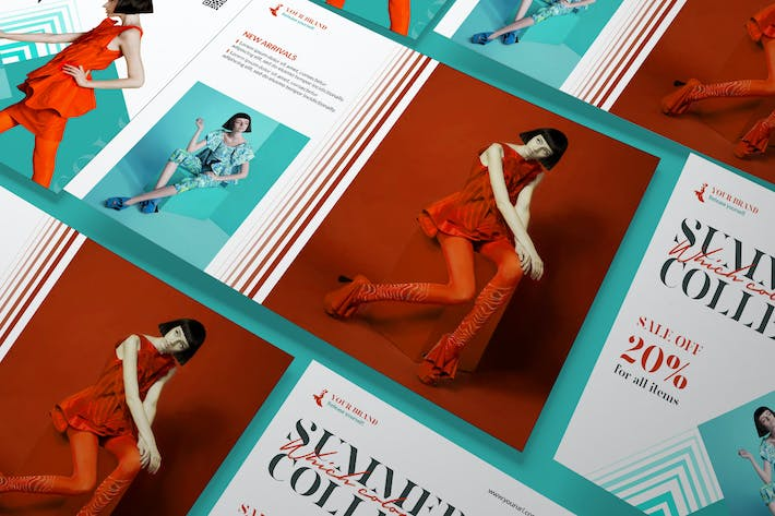 Thumbnail for Fashion Sale A5 Business Flyer PSD Template
