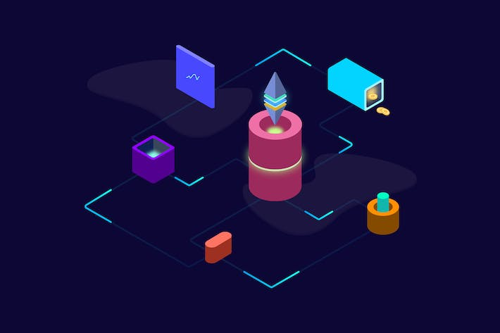 Thumbnail for Blockchain Platform Isometric Illustration