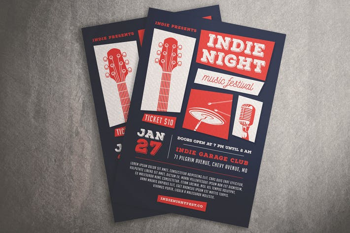 Thumbnail for Indie Night Music Festival Flyer