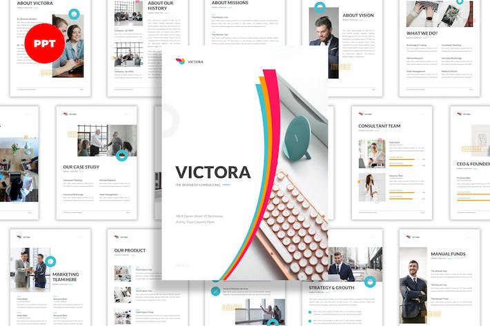 Victora - Business Consuting A4 PowerPoint