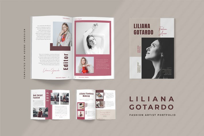 Thumbnail for Liliana - Fashion Artist Portfolio Lookbook