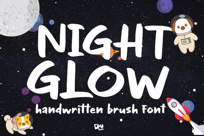 Thumbnail for Night Glow - Handwritten Font