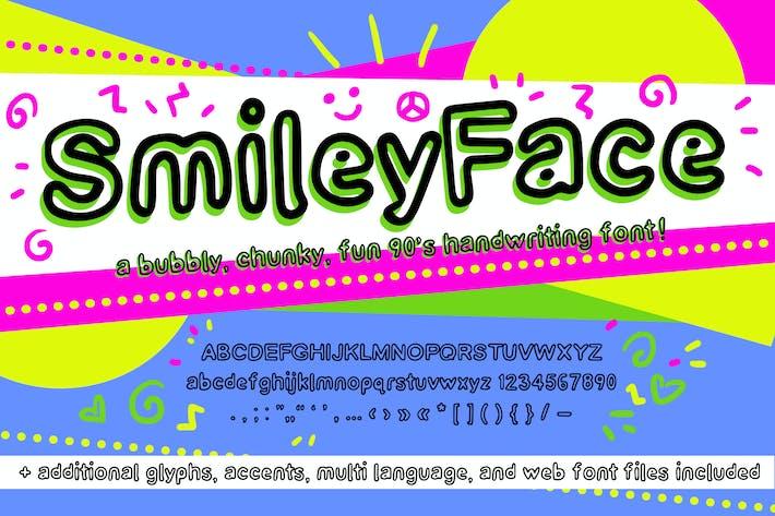 Fuente Smiley Face Retro (Fuentes web de escritura a mano de los años 90)