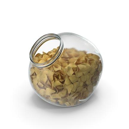 сферическая банка с картофельными чипсами