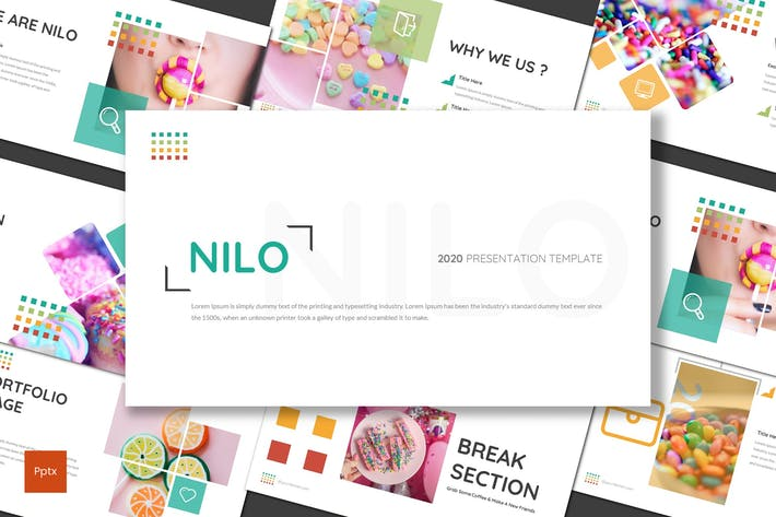 Cover Image For Nilo - Конфеты Powerpoint Шаблон