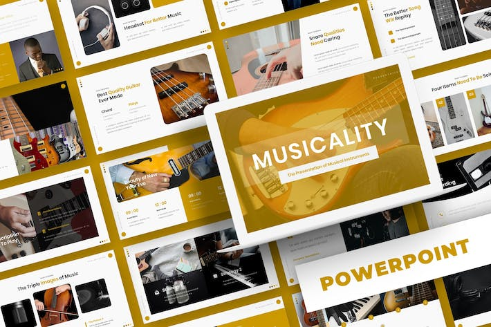 Thumbnail for Musicality - Powerpoint Template