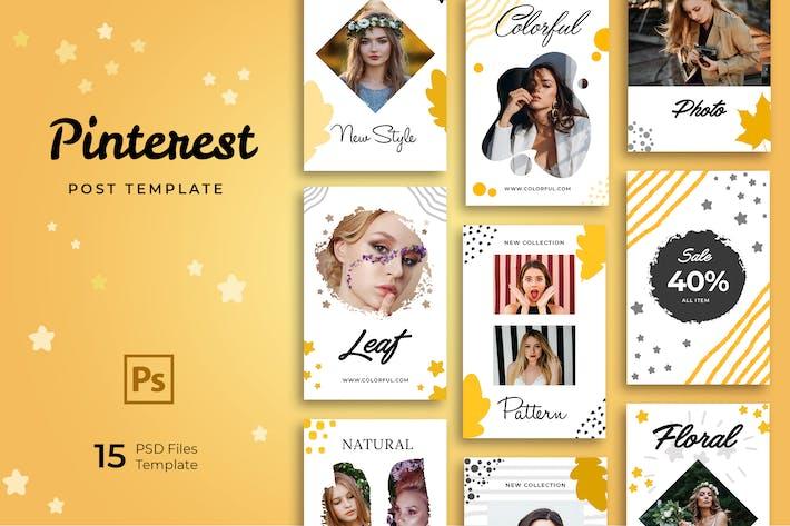 Thumbnail for Casual Fashion Pinterest Templates